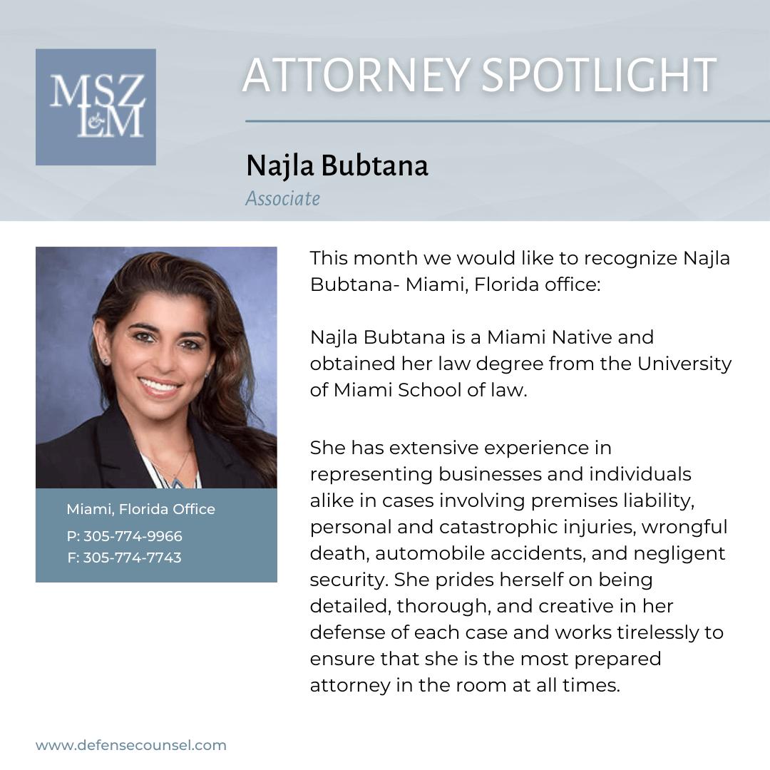 Highlighting Attorney Najla Bubtana